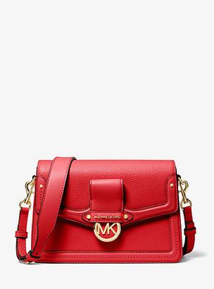 Michael Kors Jessie Medium Pebbled Leather Shoulder Bag
