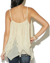 Wet Seal Sequin Yoryu Tiered Tank