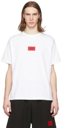 424 White Box Logo Essential T-Shirt