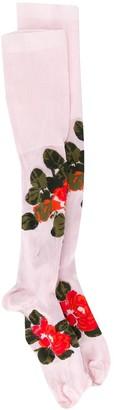 Simone Rocha Thigh-High Floral Socks