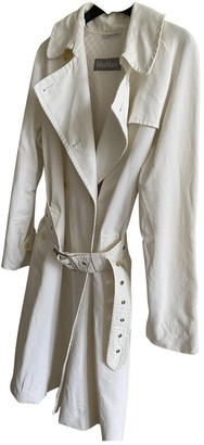Max Mara White Cotton Trench Coat for Women