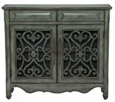Mauzy 2 Door Accent cabinet Lark Manor Color: Hood Gray