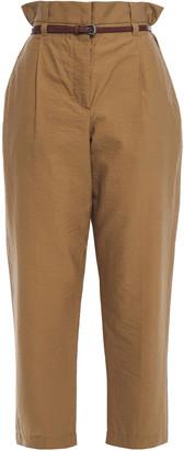 Brunello Cucinelli Cotton-blend Poplin Tapered Pants