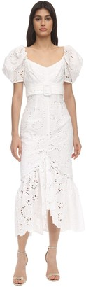 Alice McCall Ruffled Eyelet Lace Midi Dress