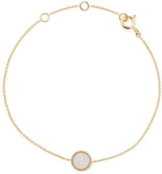 As 29 18kt yellow gold Mye round beading pave diamond bracelet