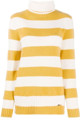Striped Rib-Trimmed Jumper