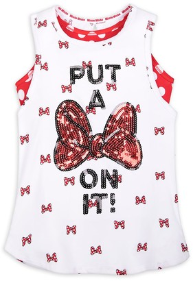 Disney Minnie Mouse ''Put a Bow on It'' Layered Tank Top for Girls