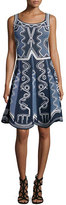 Peter Pilotto Sleeveless Intarsia Tank Dress, Navy