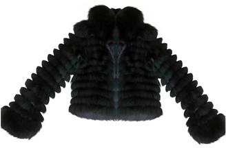 Blumarine Black Fox Coat for Women