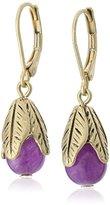 "lonna & lilly Lilac Breeze"" Gold-Tone/Purple Drop Earrings"
