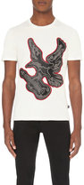 Just Cavalli Studded-eagle Cotton-jersey T-shirt