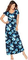 M&Co Floral rose print maxi beach dress
