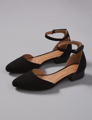 Lane Bryant Two-Piece Ankle-Strap Flat