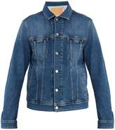 Acne Studios Blå Konst Pass point-collar denim jacket