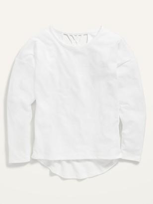 Old Navy Softest Long-Sleeve Lattice-Back Tee for Girls