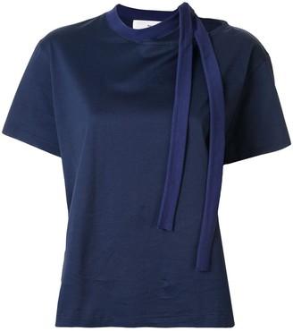 Toga asymmetric tie detail T-shirt