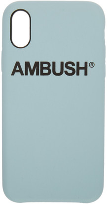 Ambush SSENSE Exclusive Blue Logo iPhone X Case