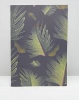 OHH DEER Ohh Deer Leaf Print A4ish Notebook