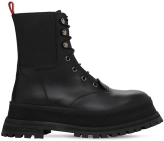 Burberry 30mm Springton Combat Leather Boots
