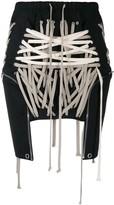 Rick Owens laced mini skirt