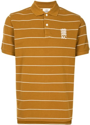Kent & Curwen Embroidered Logo Striped Polo Shirt