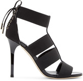 Jimmy Choo Black Corset Dario Sandals