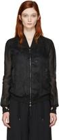 Boris Bidjan Saberi Black Cotton Bomber Jacket