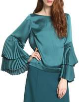 Tracy Reese Bell Sleeve Silk Top