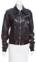Dolce & Gabbana Long Sleeve Leather Jacket