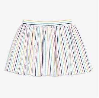 Joe Fresh Toddler Girls' Stripe Skort, White (Size 3)