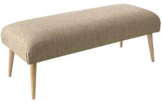Corrigan Studio Zendejas Cone Legs Bench Upholstery: Zuma Linen