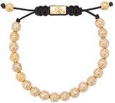 Nialaya Jewelry 14kt gold Indian logo bead bracelet