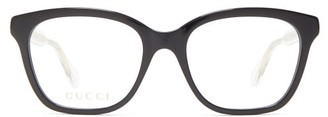Gucci Square Acetate Glasses - Black