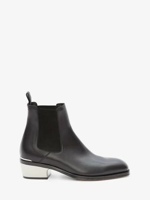 Alexander McQueen Metal Heel Chelsea Boot