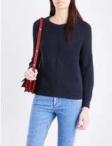 Closed Diagonal chunky-knit jumper