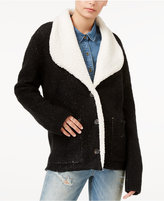 Sanctuary Brady Faux-Fur-Trim Knit Jacket