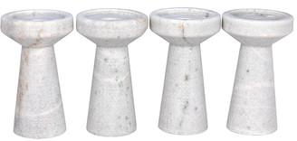 Noir Aleka Set Of 4 Decorative Candle Holders