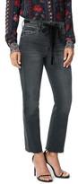 Joe's Jeans The Callie Velvet Trim High Waist Crop Bootcut Jeans