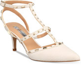INC International Concepts Carma Pointed Toe Studded Kitten Heel Pumps, only at Macy's