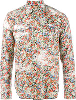 Maison Margiela bleached floral print shirt - men - Cotton - 38