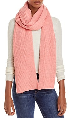 Aqua Solid Ribbed Knit Scarf - 100% Exclusive