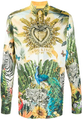 Dolce & Gabbana Superhero King print shirt