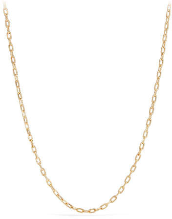 "David Yurman 18k Madison Thin Chain Link Necklace, 18""L"