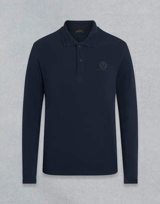 Belstaff LONG SLEEVED POLO SHIRT navy