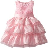 Mud Pie Little Girls' Chiffon Rosette Layered Dress