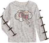 Hello Kitty Sequin T-Shirt, Toddler and Little Girls (2T-6X)