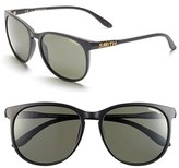 Smith Optics Women's 'Mt Shasta' 55Mm Cat Eye Sunglasses - Matte Black/ Polar Gray Green