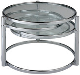 clear New Spec Inc. Motion Coffee Table With Tempered Glass, Chrome Frame