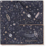 Valentino - + Zandra Rhodes Printed Silk-twill Pocket Square