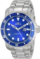 Invicta Men's 15076 Pro Diver Analog Display Japanese Quartz Silver Watch